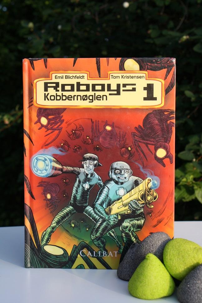 """Billede af Emil Blichfeldts bog """"Roboys 1 - Kobbernøglen""""."""