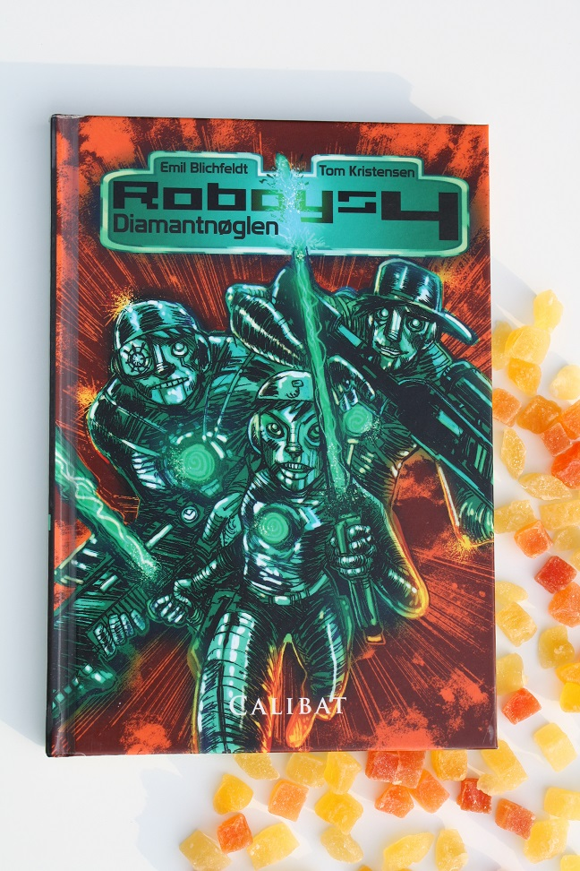 """Billede af Emil Blichfeldts bog """"Roboys 4 - Diamantnøglen""""."""